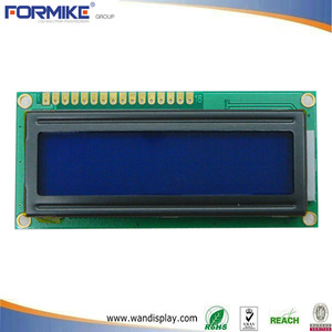 China Good Quality blue background 16x2 lcd display module with 16 characters 2 lines (WC1602A1SGW6B-E) factory